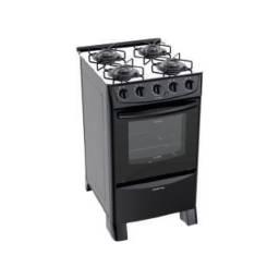 PUNKTAL Cocina a gas Negra PK-TR15 mesada vidrio
