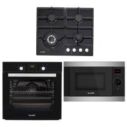 JAMES Pack Anafe AG-VN + Horno HEE BKD + Microondas J-28