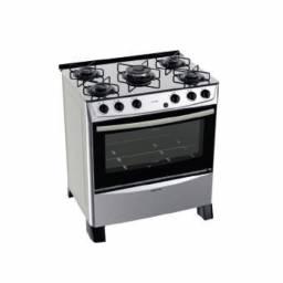 PUNKTAL Cocina a gas 5 hornallas inox PK-TR36