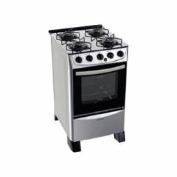 PUNKTAL Cocina a gas Inox PK-TR27 mesada vidrio